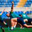 Simon Zebo warms up during the Irish Captain's Run at the Stadio Olimpico in Rome. Photo: Sportsfile