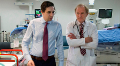 Health Minister Simon Harris with Dr John Murphy, consultant neonatologist, on the minister's recent visit to the National Maternity Hospital, Holles Street, Dublin Photo: Colin ORiordan