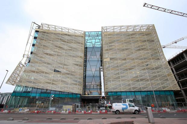 The new Central Bank building in the Docklands Photo: Frank Mc Grath