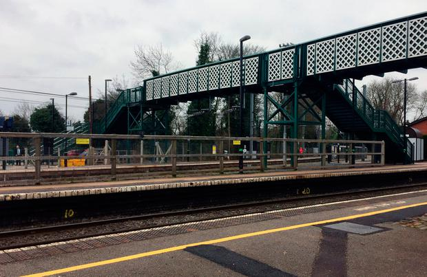 General view of Barnt Green station in Worcestershire where a woman has died after being hit by a train in what emergency services called a