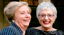 In happier times: Justice Minister Frances Fitzgerald and Katherine Zappone last year Photo: Niall Carson/PA Wire