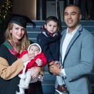 Simon Zebo with partner Elvira Fernandez and their children Jacob and Sofia after her graduation from UCC. Picture: Gerard McCarthy