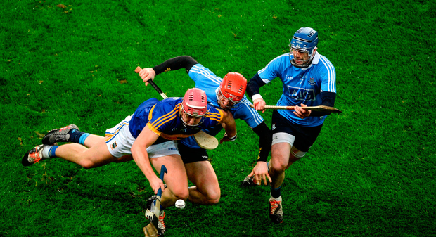 Steven O'Brien of Tipperary in action against Ryan O'Dwyer of Dublin