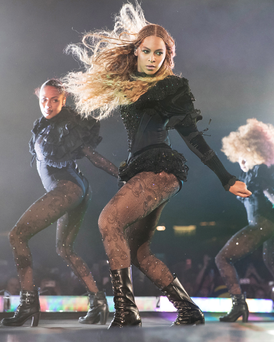 Beyonce performs during her Formation World Tour which she brought to Croke Park in Dublin. Photo: Daniela Vesco/Parkwood Entertainment
