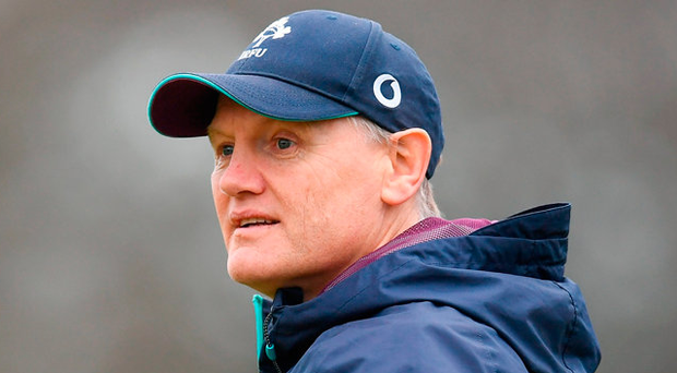 Joe Schmidt enjoyed an easy day at the office Photo: Sportsfile