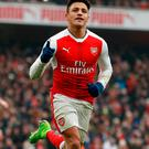 On the double: Arsenal attacker Alexis Sanchez Photo: Reuters