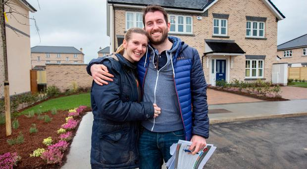 Lisa O'Connor and Ronan O'Neill were among those who managed to buy a house. Photos: Tony Gavin