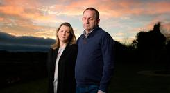 Garda Sgt Maurice McCabe and his wife Lorraine photographed at their home on the Cavan/Meath border. Photo: Barry Cronin