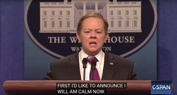 Melissa McCarthy as Sean Spicer on Saturday Night Live