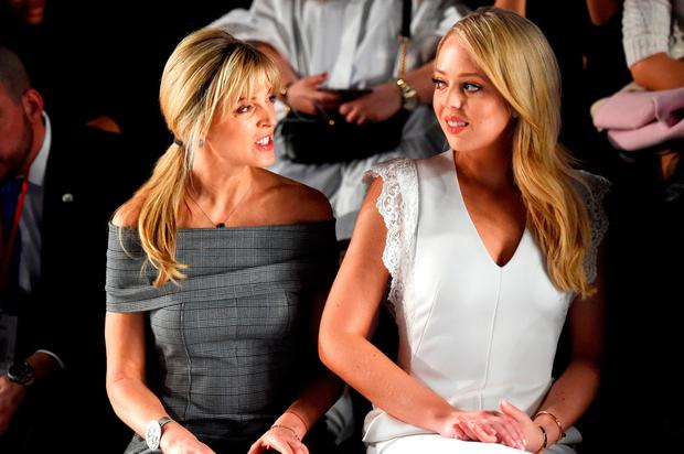 Marla Maples & Tiffany Trump Attend Taoray Wang New York Fashion Week Show