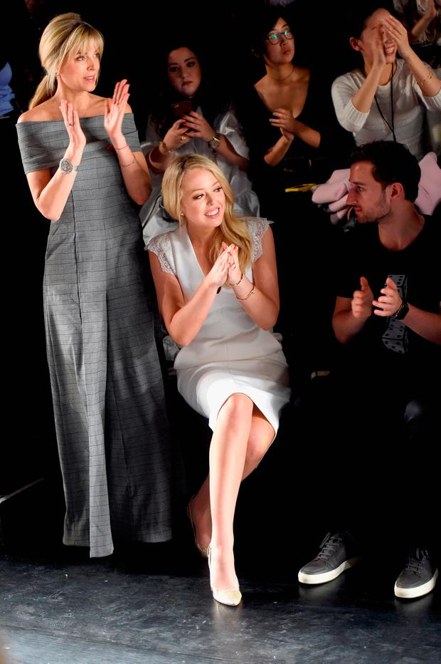 (L-R) Marla Maples Tiffany Trump and Ross Mechanic attend the Taoray Wang collection during, New York Fashion Week: The Shows at Gallery 1, Skylight Clarkson Sq on February 11, 2017 in New York City. (Photo by Jamie McCarthy/Getty Images for Taoray Wang)