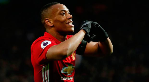 Manchester United's Antony Martial