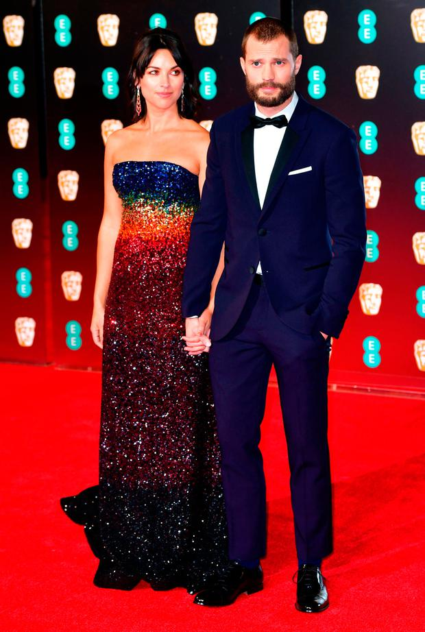 Jamie Dornan and his wife Amelia Warner were at the awards. Photo: Dominic Lipinski/PA Wire