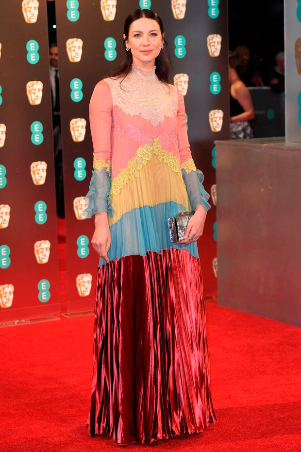 Caitriona Balfe arrives for the British Academy of Film and Television Awards (BAFTA) at the Royal Albert Hall in London. Photo: REUTERS/Toby Melville