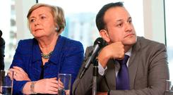 Leo Varadkar (right) with Frances Fitzgerald. Photo: Tom Burke