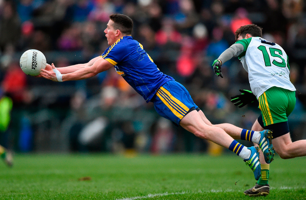 Sean McDermott of Roscommon in action against Donegal's Jamie Brennan Photo: David Maher/Sportsfile