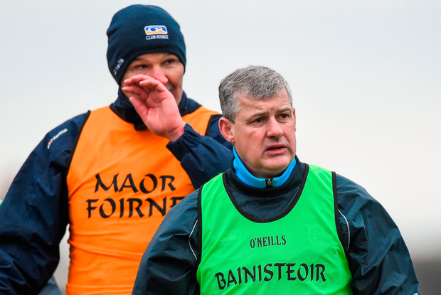 Roscommon manager Kevin McStay, right, with selector Liam McHale Photo: David Maher/Sportsfile