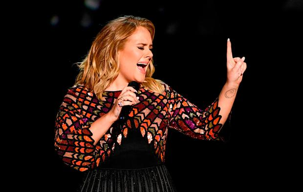 Recording artist Adele performs onstage during The 59th GRAMMY Awards at STAPLES Center on February 12, 2017 in Los Angeles, California. (Photo by Kevin Winter/Getty Images for NARAS)