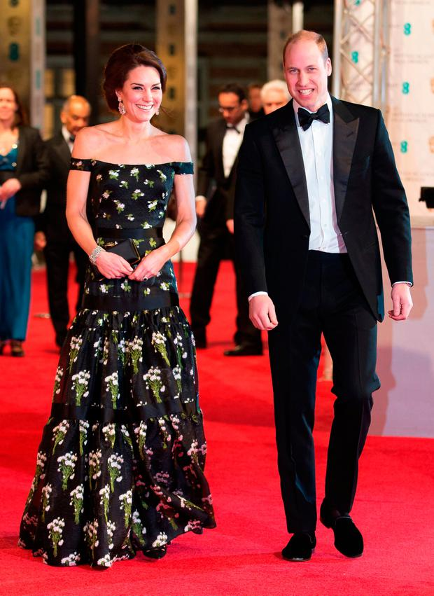 The Duke and Duchess of Cambridge attending the EE British Academy Film Awards held at the Royal Albert Hall, Kensington Gore, Kensington, London. PRESS ASSOCIATION Photo. Picture date: Sunday February 12, 2017. See PA story SHOWBIZ Baftas. Photo credit should read: Daniel Leal-Olivas/PA Wire