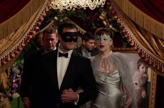 Jamie Dornan and Dakota Johnson in Fifty Shades Darker