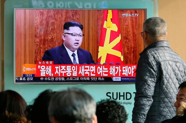 South Koreans watch a TV news program showing North Korean leader Kim Jong Un's New Year's speech, at the Seoul Railway Station in Seoul, South Korea.(AP Photo/Ahn Young-joon, File)