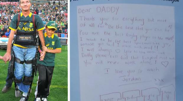 Jordan van der Westhuizen paid tribute to his late father