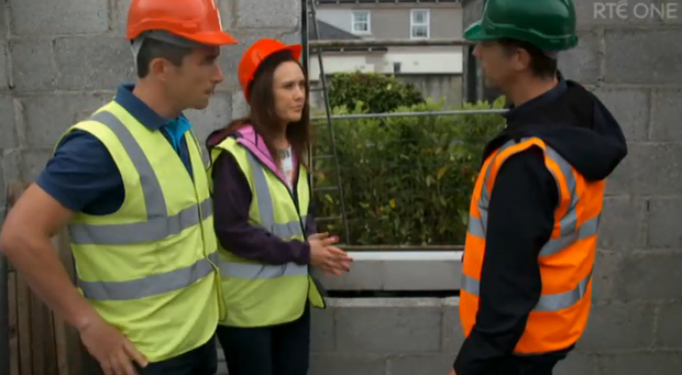 Dessie, Kelly and Dermot on Room to Improve. Image: RTE