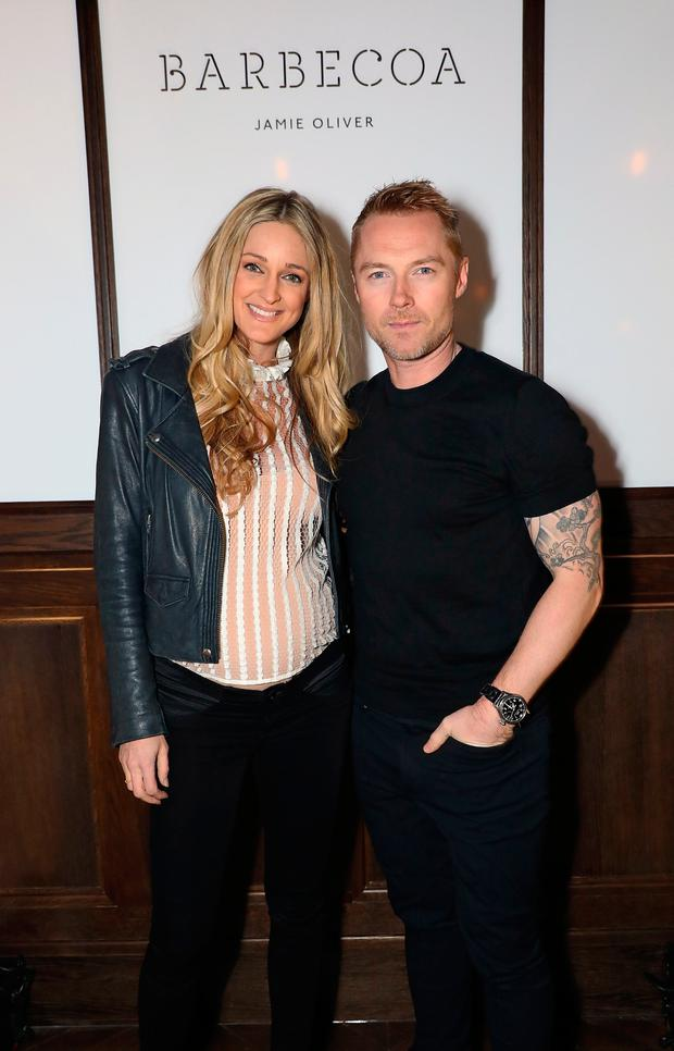 Storm Keating and Ronan Keating attend Jamie Oliver's new Barbecoa restaurant in London, England. (Photo by David M. Benett/Dave Benett/ Getty Images for Jamie Oliver Group )