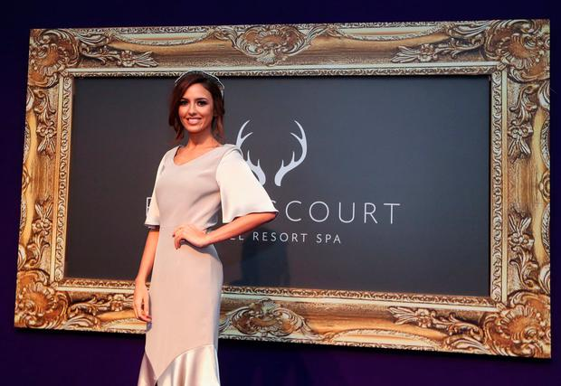 Nadia Forde judging the Powerscourt Hotel Style Awards judge at Leopardstown Racecourse. Picture: ©INPHO/James Crombie