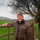 Andrew Doyle, TD, in Roundwood, Co Wicklow, where his family has been farming for five generations. Photo: colin o'riordan