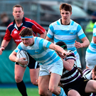 Blackrock's Alan Francis gets away from Jack Cooke during the Leinster Schools Senior Cup match at Donnybrook Picture: Sportsfile
