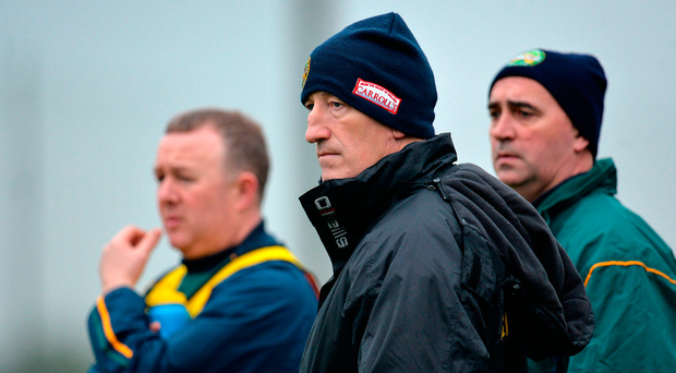 Offaly manager Kevin Ryan saw his team suffer a heavy defeat to Galway Photo by Seb Daly/Sportsfile