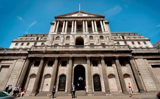 The Bank of England revised up its forecasts this month as it kept interest rates at a record low. Photo: PA