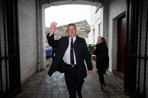 Superintendent Dave Taylor arrives back to work at Dublin Castle. Also included is his wife Michelle.