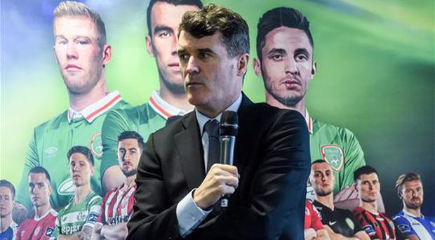 Ireland assistant manager Roy Keane in attendance at the SSE Airtricity League Launch 2017 at the Aviva Stadium