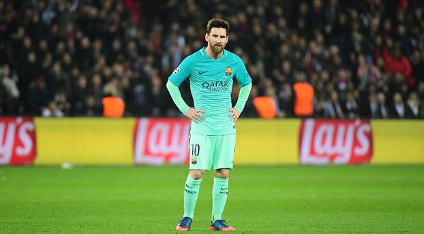 Lionel Messi of Barcelona during the Champions League match between Paris Saint Germain and FC Barcelona at Parc des Princes on February 14, 2017 in Paris, France. (Photo by Dave Winter/Icon Sport) (Photo by Dave Winter/Icon Sport via Getty Images)