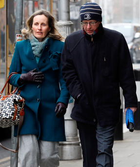 Denise and Nicholas Montgomery, parents of Robert Montgomery, leave the Four Courts Photo: Collins Courts