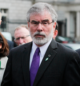 Gerry Adams criticised the Government's handling of Sgt Maurice McCabe's case Photo: Stephen Collins/Collins Photos