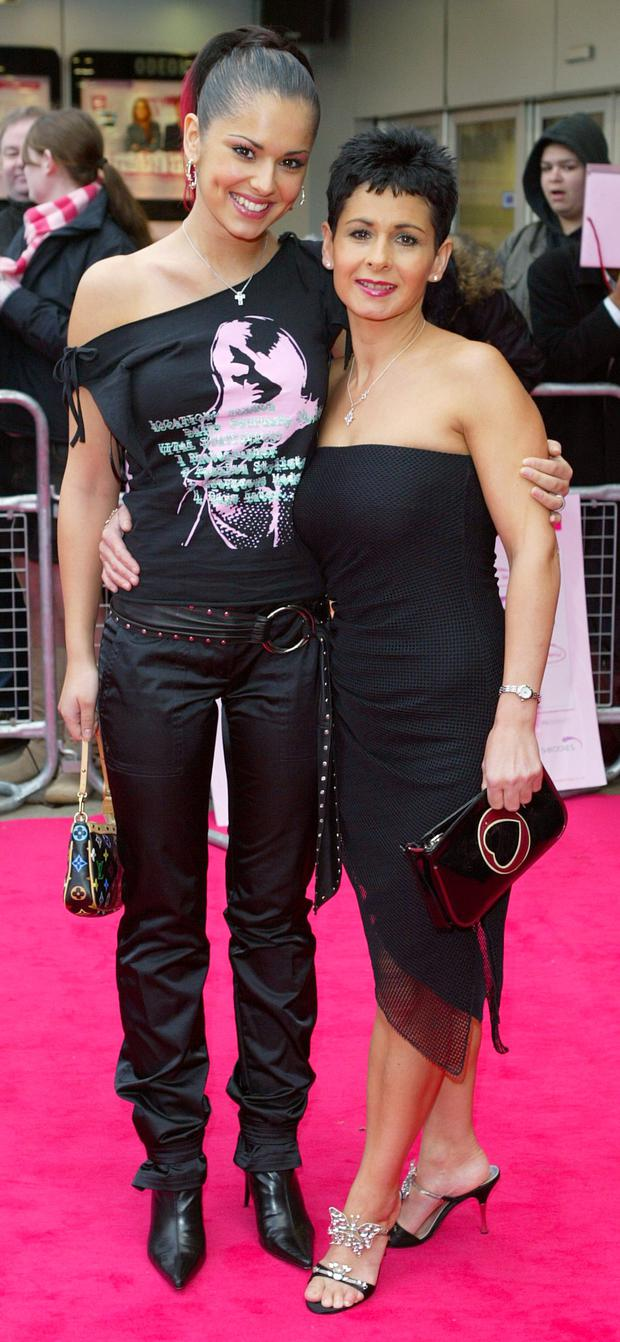 Cheryl and her mother Joan Callaghan in London in 2003