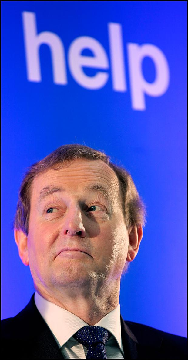 Taoiseach Enda Kenny at a Jobs announcement at Indeed's Headquarters on St Stephens Green. Pic Steve Humphreys