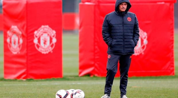 Manchester United manager Jose Mourinho during the training session at the Aon Training Complex, Manchester