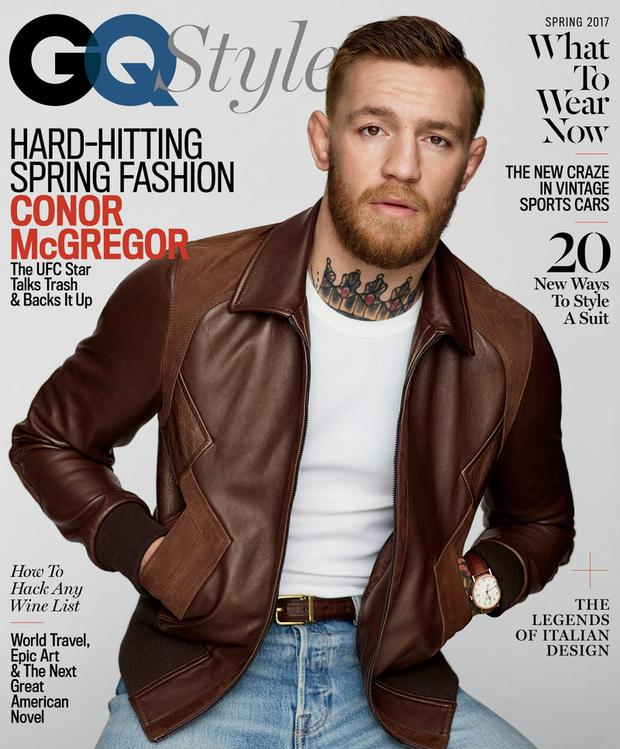 The GQ cover featuring Conor McGregor