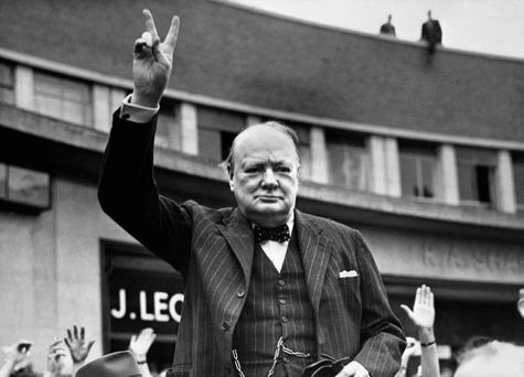 An essay discovered buried in an American archive shows that Winston Churchill was convinced that aliens existed. Photo: AFP/Getty Images