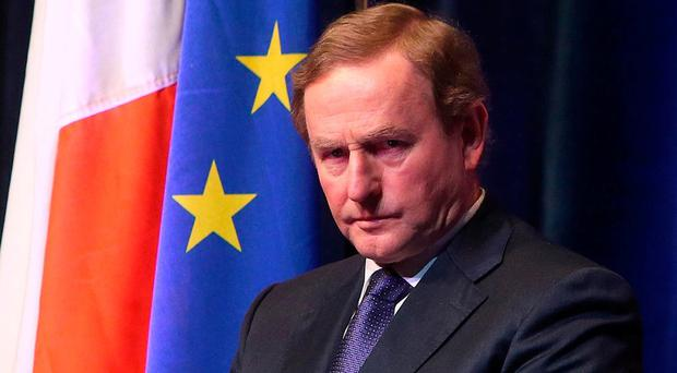 An Taoiseach Enda Kenny pictured after speaking on the topic of Ireland at the Heart of a Changing European Union at the Institute of International and European Affairs, Round Room, Mansion House, Dublin. Photo: Damien Eagers