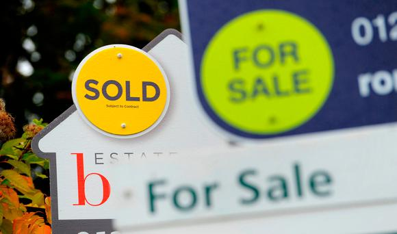 House prices are expected to rise by 7pc this year, amid looser lending rules introduced last month by the Central Bank. Photo: PA