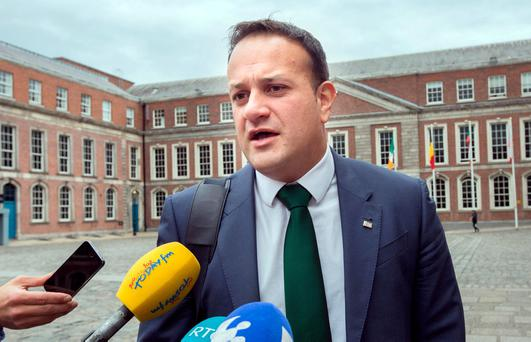 Social Protection Minister Leo Varadkar has vowed that Fine Gael 'will put things right'. Photo: Tony Gavin