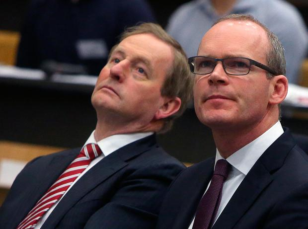 Taoiseach Enda Kenny and Housing Minister Simon Coveney pictured earlier this month. 'Some see Mr Coveney as a potential future Fine Gael leader, but he has shown no real ruthless streak so far.' Photo: Damien Eagers