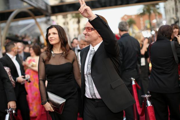 Ali Hewson and Bono of U2 attends the Oscars at Hollywood & Highland Center on March 2, 2014 in Hollywood, California. (Photo by Christopher Polk/Getty Images)
