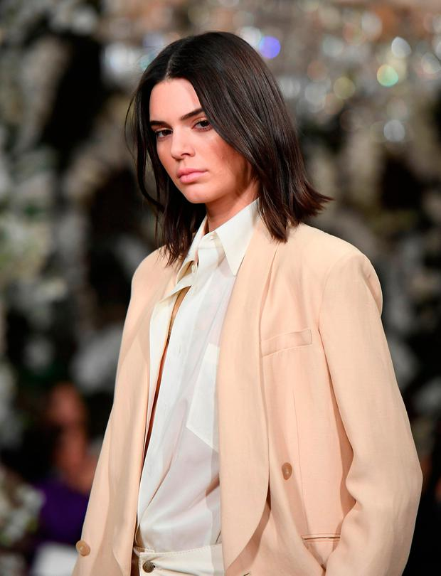 Model Kendall Jenner walks the runway for the Ralph Lauren collection during New York Fashion Week on February 15, 2017, in New York City. / AFP PHOTO / Angela WeissANGELA WEISS/AFP/Getty Images