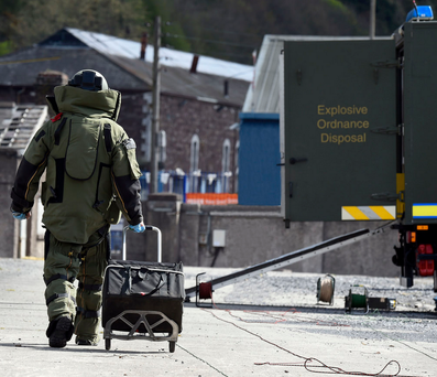 The hand grenade had to be made safe by members of the Army Bomb Disposal Unit Photo: Flickr